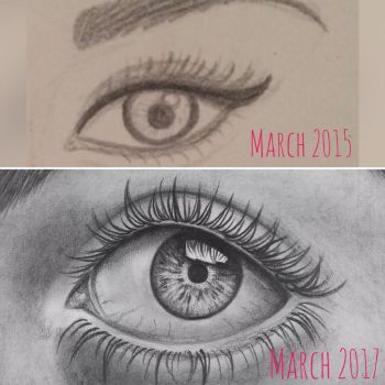 2 years improvement  by marghecaspani