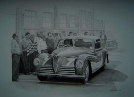 Alfa 6C at the start by klem