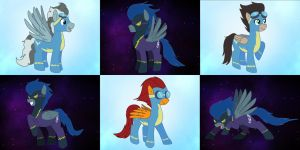 Commission_Wonderbolts and Shadowbolts by Evil-Rick