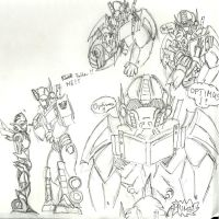 arcee pregnant Optimus reactions by Shikutoki