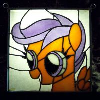Stained Glass Scootaloo by Fetchbeer