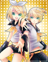 Rin and Len Kagamine by CaramelCaprice
