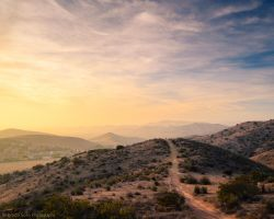 Path over the hill by isotophoto