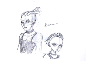 Couple of Germaine Doodles by itanatsu-chan