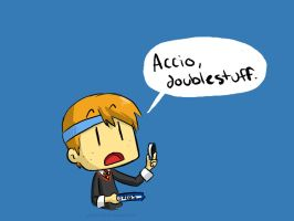 Accio Doublestuff Wallpaper by pettyartist