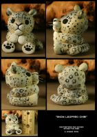 Snow Leopard Chibi by CatharsisJB