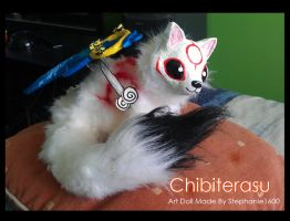 Posable 'Chibiterasu' Art Doll Commission by stephanie1600