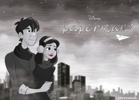 Paperman Meg and George by zerocrack21