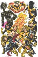New Mutants by olybear