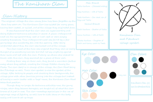 Kanihara Clan Info Sheet by sonicnshadow321
