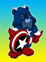 capt America care bear by yayzus