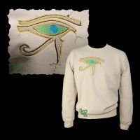Embroiderd Eye of Horus Carving on Sand Sweatshirt by FancyTogs