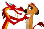 Timon and Mushu by chocolatecherry