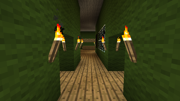 minecraft mansion hallway by coachlovesfootball