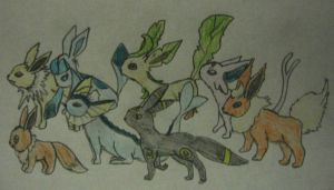 Eevee and his Evolution by Galgalgo