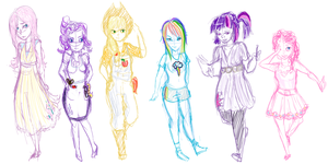 My Little Pony- FIM Sketch by Aellos
