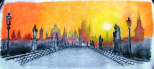 Charles bridge Prague by SwarzezTier