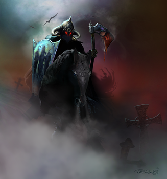 Death Dealer tribute to Frazetta by spoofdecator