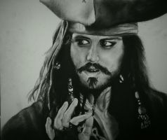 Captain Jack Sparrow, Johnny Depp by WednesdaySerio