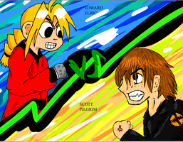Edward Elric-VS-Scott Pilgrim by kindalkaykay