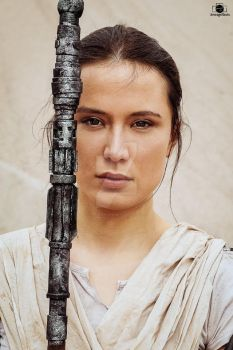 Rey Star Wars Portrait by arijana1988