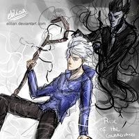 Jack Frost and Pitch - Haunted by darkness by Elilian
