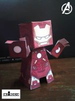 Iron Man Mark VII : The Avengers Movie Papercraft by jazzmellon