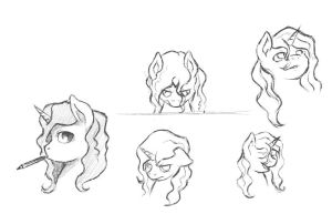 GeeSee pony sketches by RRDZ