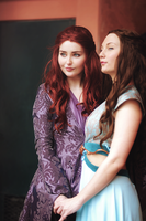 Sansa and Margaery by StarbitCosplay
