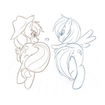AJ and RD wip by HitmanLovely