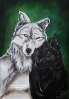 Werewolf Couple by LKE-Kola
