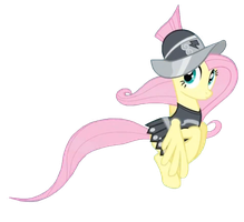 Fluttershy as Private Pansy by RedmondRoshi