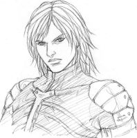 Raiden MGS2 sketch by Kyokinette