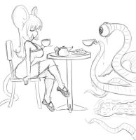 Tentacle Monster Teatime by kokido