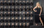 Stock: Ivy Strips Off Black Dress - 44 Images by modelsource