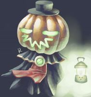 Pumpkin guy doodle by kostellano