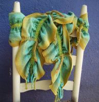 Patina  a collapse weave scarf by julieweaverwoman