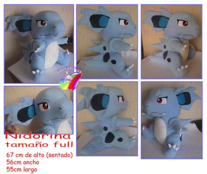 Giant Nidorina plush by chocoloverx3
