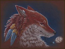 Coyote Feather by AlviaAlcedo