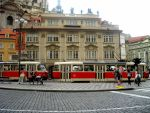 red tram in Prague by justyna144