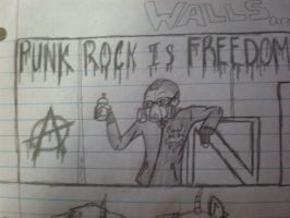 PUNK ROCK IS FREEDOM by SirSlayer62