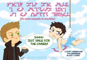 Destiel Valentine s day by kenshymidzu