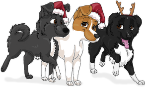 Merry Christmas from the Dogs by Starrypoke