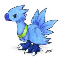 Cutesy Blue Chocobo by nepryne