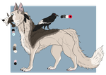 Coydog and Raven: Adoptable(sold) by SpiffyInu
