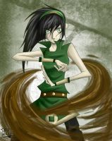 Toph - mudbending by Tao-mell