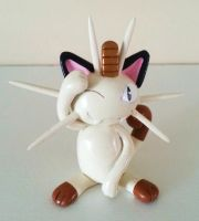 Sculpey Meowth by ChloeMcGhoe