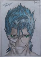 Grimmjow Jeagerjaques - Bleach (Colour pencils) by SofijaKpop18