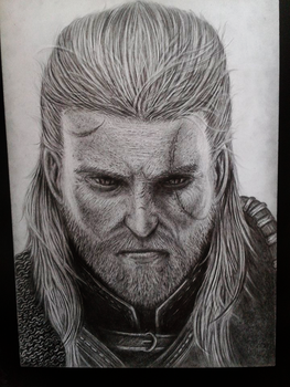 Geralt Of Rivia(pencil) by llorddd