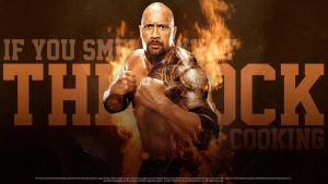 The Rock - Wallpaper by findmyart